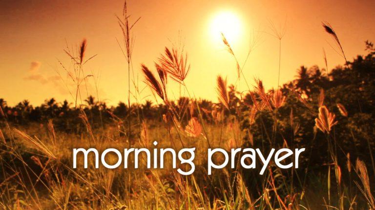 Thursday Jan 14th  Morning Prayer