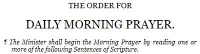 Morning Prayer video